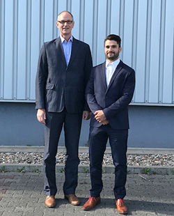 Sales Manager Wolfgang Nägele and field sales consultant Thomas Markel